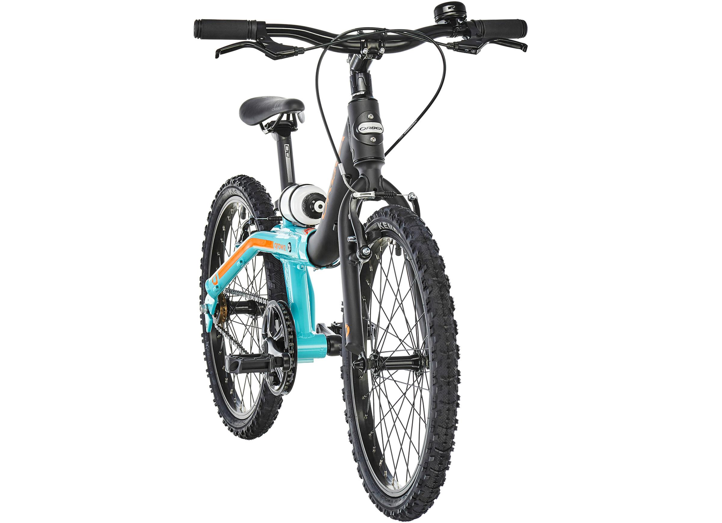 ORBEA Grow 2 1V Børnecykel sort/turkis   Find cykeltilbehør på nettet   Bikester.dk